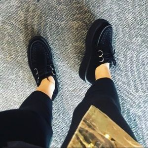 TUK Black Leather Mondo Sole Creeper!